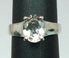 Natural Pink Morganite Silver Ring, FREE SIZING, USA SELLER