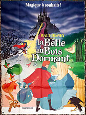 R80s SLEEPING BEAUTY Walt Disney animation French 47x63 movie poster