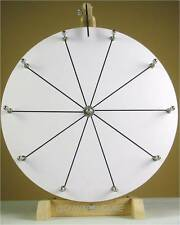 "16""YDL® Tabletop White Dry Erase Fortune Prize Wheel 10Slots Wood Stand Spinning"