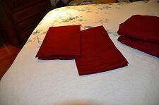 Fieldcrest Luxury Egyptian 100% Cotton  Pillowcases Set Of 2 Dark Red Maroon EUC