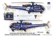 [FFSMC Productions] Decals 1/48 Alouette III Police basic et last vol