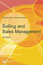 Selling and Sales Management, Good Condition Book, David Jobber, Geoffrey Lancas