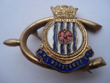 C1930S VINTAGE H.M.S.MORECAMBE BAY SOUVENIR WISHBONE SHAPE SWEETHEART PIN BROOCH