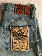 NWT RRL Ralph Lauren Selvedge Jeans Straight Distressed 31/30 Sante Fe $300
