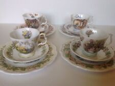 "Royal Doulton 12 Piece Set BRAMBLY HEDGE FOUR SEASONS 8"" Plates, Cups & Saucers"