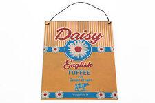 Daisy caramel anglais métal signe salons de thé témérité jones rétro style vintage