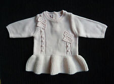 Baby clothes GIRL 0-3m NEXT super soft pink knitted wool dress NEW! SEE SHOP!