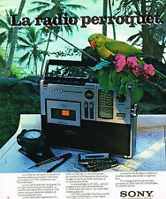 PUBLICITE ADVERTISING 015  1976  SONY   transistor radio LE PERROQUET