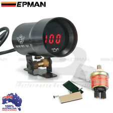EPMAN 37mm Compact Micro Digital Smoked Lens Oil Pressure Gauge Universal Fit