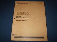 CAT CATERPILLAR CS-551 VIBRATORY COMPACTOR PARTS BOOK MANUAL S/N 6ZD1-UP