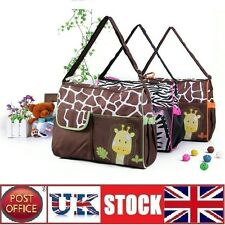 Baby Nappy Changing Bag Diaper Mat Mummy Shoulder Handbag Set Giraffe GREEN