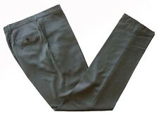Benjamin Trousers: 34 Solid medium gray, Classico II flat front, super 140's woo