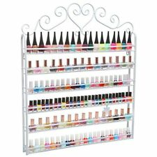 White Metal Nail Polish Organizer Rack Display Stand Mountable 6 Tier Storage