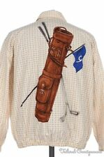 RALPH LAUREN Polo Sport Vintage Plaid Check Cotton GOLF BAG Jacket Coat - MEDIUM