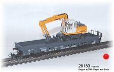 Aus Märklin 29183 nur der Niederbordwagen mit Bagger-Modell aus Metall #NEU#