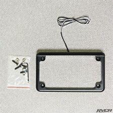 Black LED Lighted Motorcycle License Plate Frame Cafe Racer Bobber