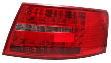 Back Rear Tail Lights For Audi A6 Saloon 04-08 In Red-Black LED Pair 6 Pin