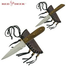 2pc Set of Patch Skinning Skinner Hunting Knife Knives Stainless Custom +Sheath