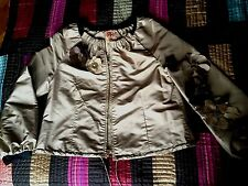 Tory Burch Silk with leather and stone embellishment flowers Jacket s 6