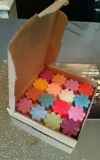 Job lot 16 mixed scented soy wax melts tart candle oil burner electric burner