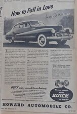 Vintage 1948 newspaper ad for Buick - How to Fall in Love, Dynaflow, Buick photo