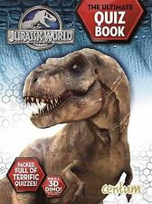 NEW  JURASSIC WORLD the ULTIMATE QUIZ book build a  3D DINOSAUR Park