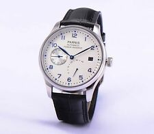 43mm Parnis Sea Gul Automatic Power Reserve White dial Men Watch