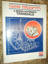 UP TO 1990 CHEVY GEO STORM 4-SPEED TRANSAXLE SERVICE MANUAL GUIDE FACTORY