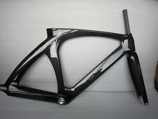 Fixed Gear Carbon Track Bike Frame+Seatpost+Fork+Headset SingleSpeed Frame Stock