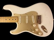 LEFTY! MJT White Blonde Nitro Strat Left Musikraft Custom Built Relic Guitar HSC