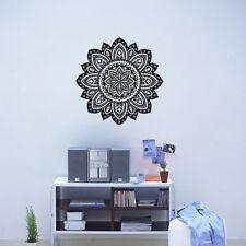 Indian Flower Mandala Wall Decal Indian Wall Sticker Vinyl Decal Home Mandala