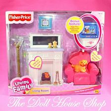 New Fisher Price Loving Family Sweet Sounds Dollhouse Living Room TV Television