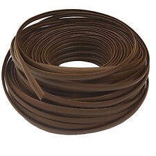 SINGLE LIP T TRIM DARK BROWN EDGING FOR 15MM FURNITURE BOARD CARAVAN/CAMPER/BOAT