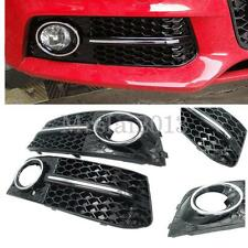 Grille Front Bumper Fog Light Cover Trim Mesh Grill  Lower For Audi A4 B8 09-11