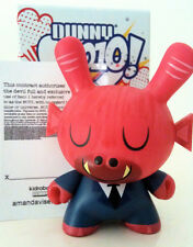 "DUNNY 3"" 2010 SERIES AMANDA VISELL RED DEVIL 2/25 KIDROBOT VINYL TOY FIGURE"