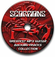 20x SCORPIONS STYLE ROCK GUITAR MP3 BACKING TRACKS CD ANTHOLOGY LIBRARY