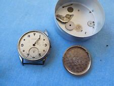 W11 VINTAGE STAINLESS STEEL MILITARY LONGINES WRISTWATCH FOR PARTS OR REPAIR