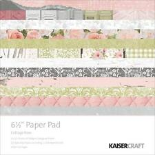 "NEW Kaisercraft  6.5"" x 6.5"" Paper Pad Cottage Rose"