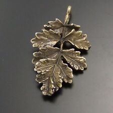 02377 Vintage Bronze Alloy Leaf Shaped Pendants Charms Crafts Findings 5pcs