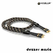 ViaBlue 0,5m NF-S1 Silver Quattro Cinchkabel / Stereo 0,50m/ High End...Bestnote