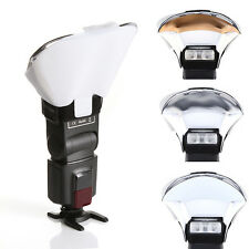 Universal Flash Bounce Reflective Diffuser with 3 Color Reflector For Speedlite