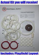 1976 Gottlieb Buccaneer Pinball Machine Rubber Ring Kit