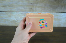 Vintage Mini Caboodles of California Peach Double Sided Case Jewelry Storage