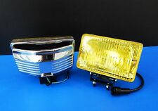 Pair Front Bumper Turn Signal Lights For Toyota Land Cruiser FJ75 Yellow