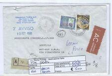 STORIA POSTALE - REPUBBLICA MULTIPLI - PIIM0024 - ASSICURATA - 5.00€