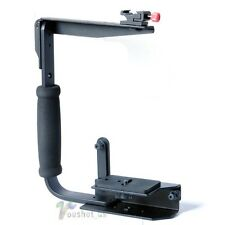 Quick Flip Flash Bracket Grip Camera Flash Arm Holder stand For Canon Nikon Sony