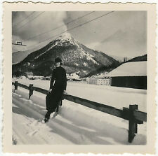 PHOTO ANCIENNE - FEMME MONTAGNE NEIGE - WOMAN MOUNTAIN SNOW - Vintage Snapshot