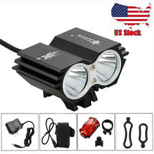 6000Lm 2xCREE T6 LED Front Head Front Bicycle Bike Light Lamp 6400mAh+Taillight