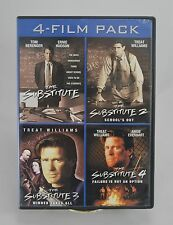 The Substitute 1,2,3,4 4 Film Pack (3-DVD) SHIPS NEXT DAY RARE Treat Williams