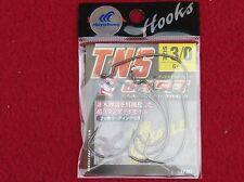 hayabusa tns offset hamecons texan 3/0-6 pieces made in japan